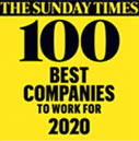 Sunday Times. 100 best companies to work for 2020